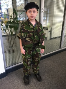 Charlie is an army soldier!