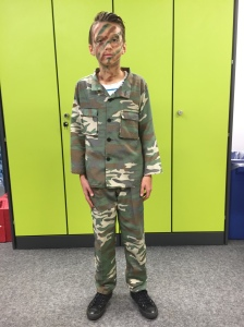 Harley is an army soldier!