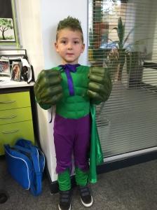 Jesse is The Incredible Hulk!