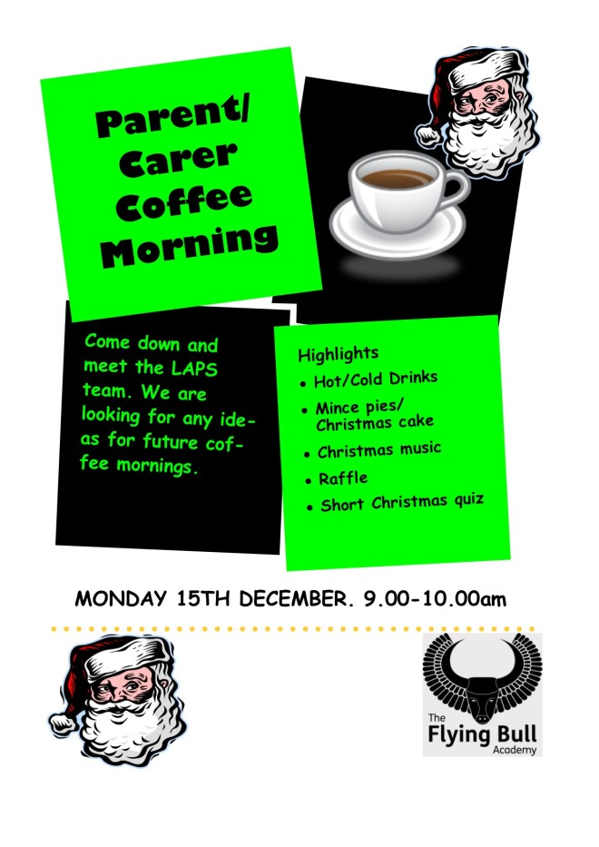 Parent coffee morning Flyer